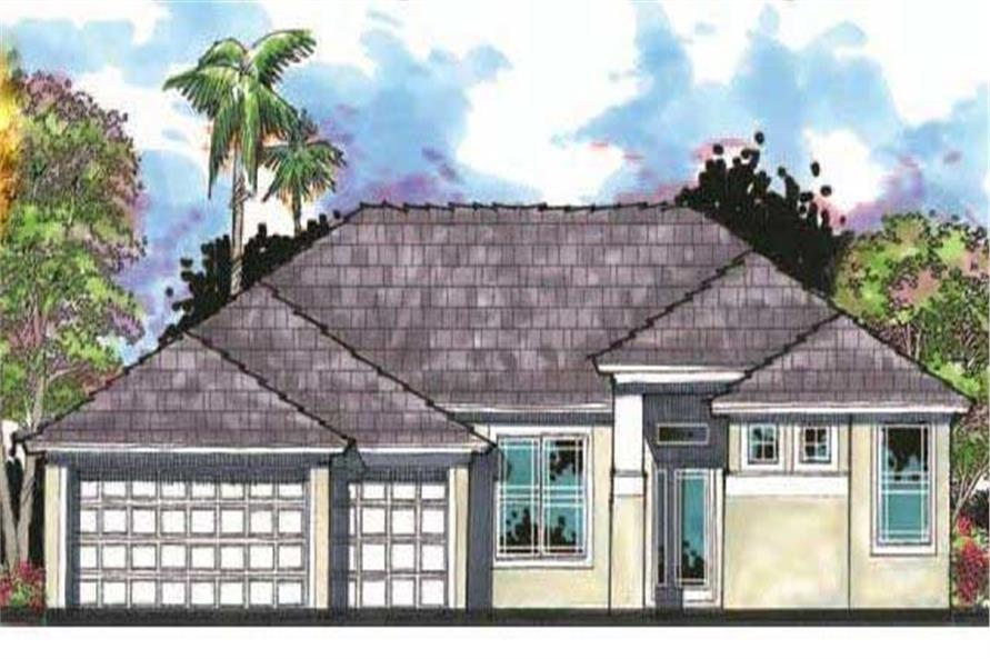 This is an artist's rendering for these Traditional Home Plans.
