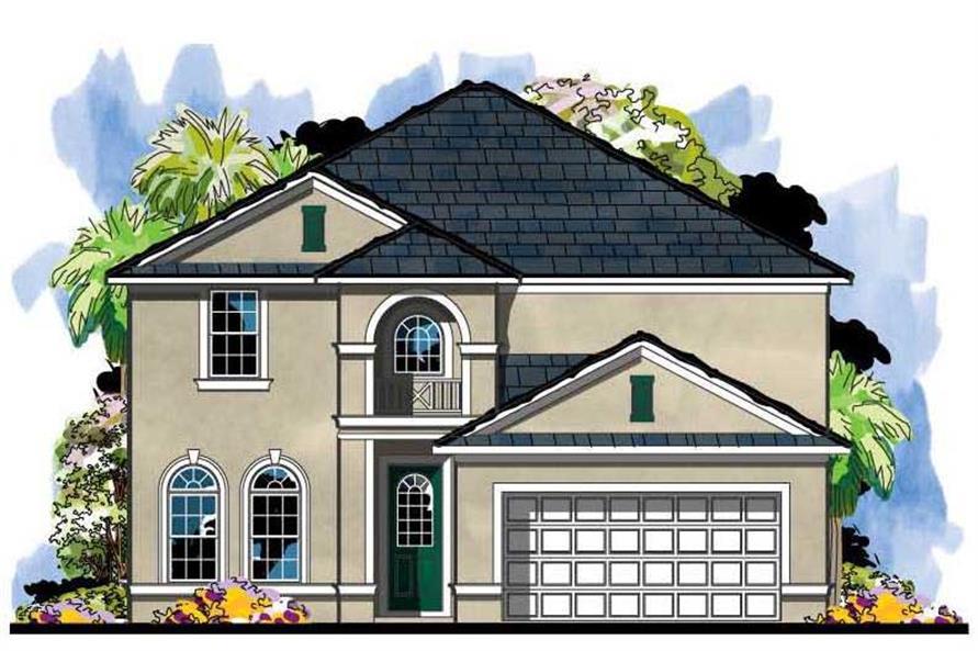5-Bedroom, 2841 Sq Ft Mediterranean House Plan - 159-1019 - Front Exterior