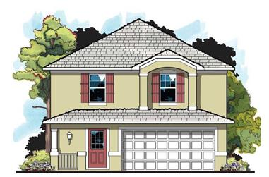 4-Bedroom, 1469 Sq Ft European House Plan - 159-1021 - Front Exterior