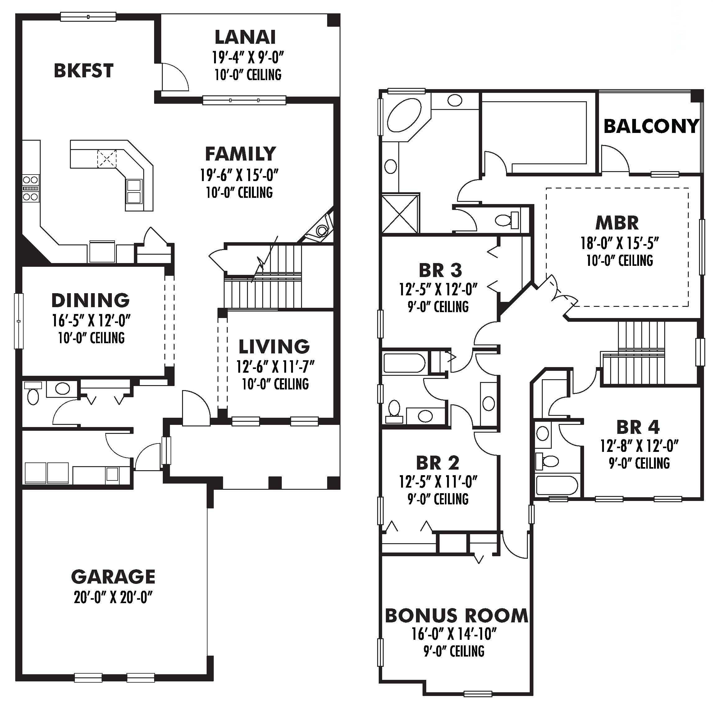 Mediterranean House Plan 2 Story Tuscan Style Home Floor Plan: Tuscan House Plans