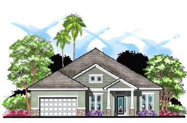 4-Bedroom, 2495 Sq Ft Craftsman House Plan - 159-1028 - Front Exterior
