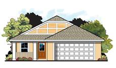 This is the front elevation for these Tudor Home Plans.
