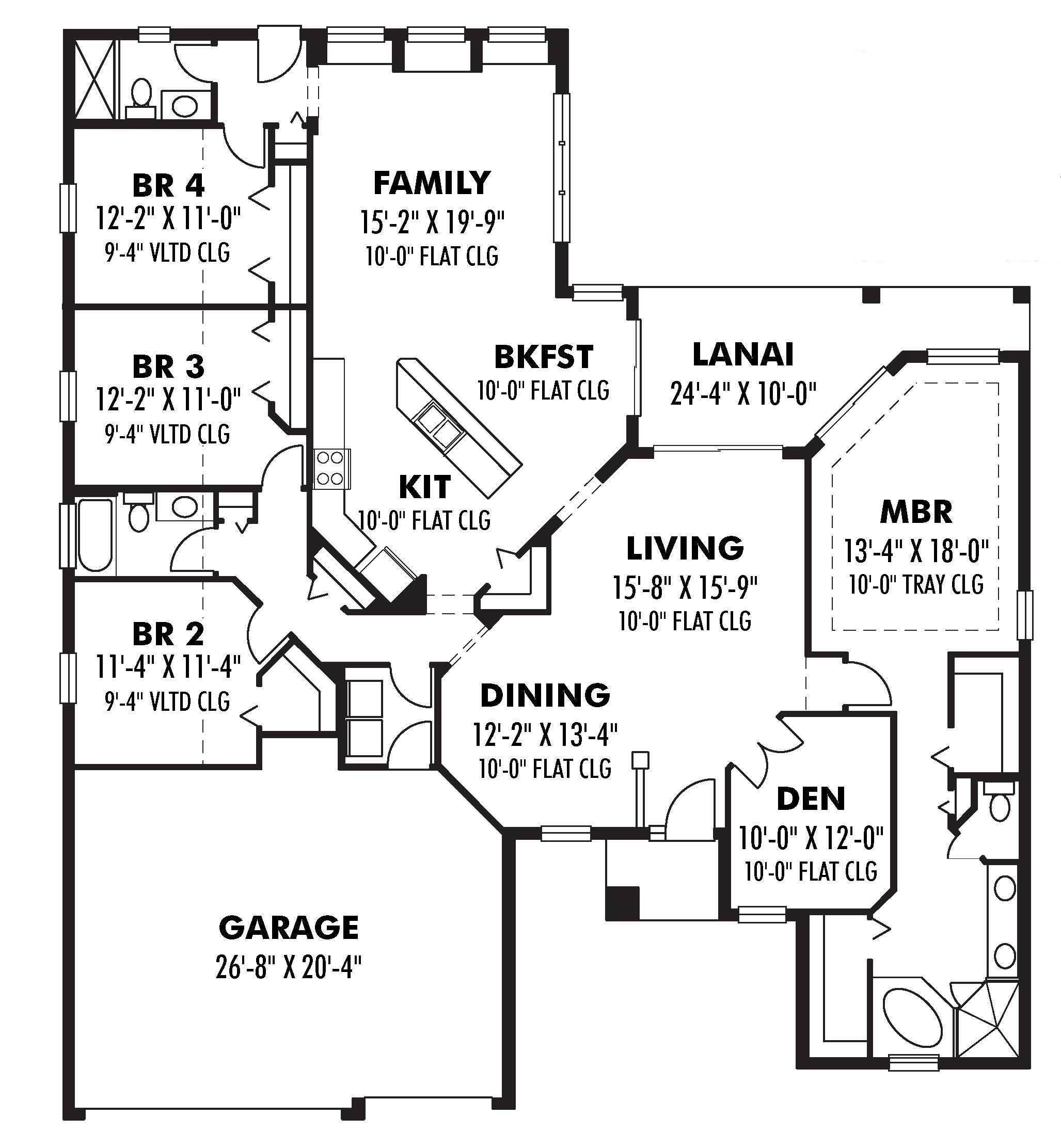 Ranch house plans home design 2500 for 2500 sq ft floor plans