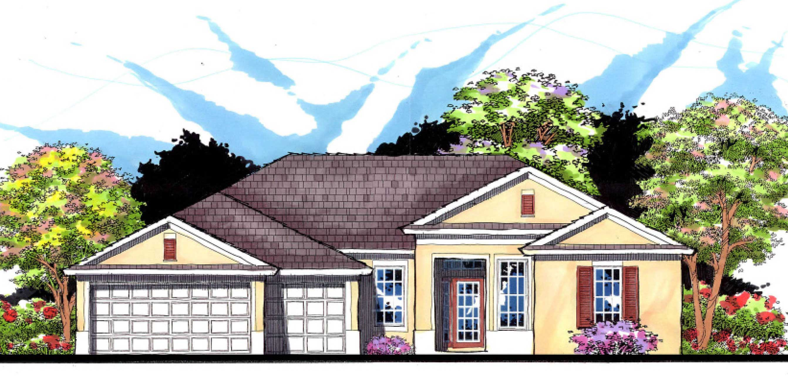 Ranch House Plans Home Design 2500