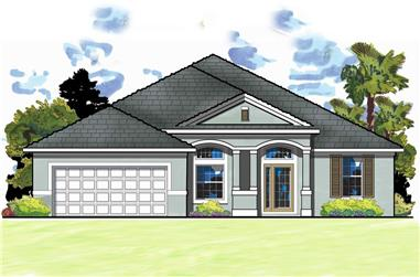4-Bedroom, 2585 Sq Ft Traditional House Plan - 159-1034 - Front Exterior
