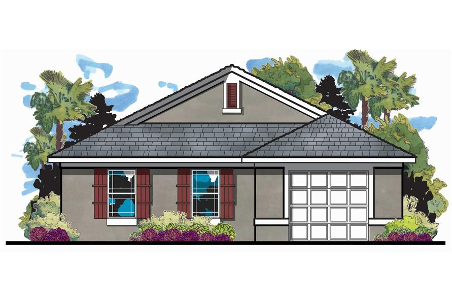 3-Bedroom, 1146 Sq Ft European Home Plan - 159-1036 - Main Exterior