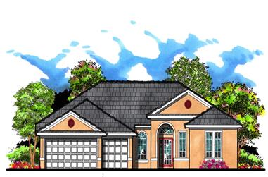 4-Bedroom, 2755 Sq Ft Ranch Home Plan - 159-1040 - Main Exterior