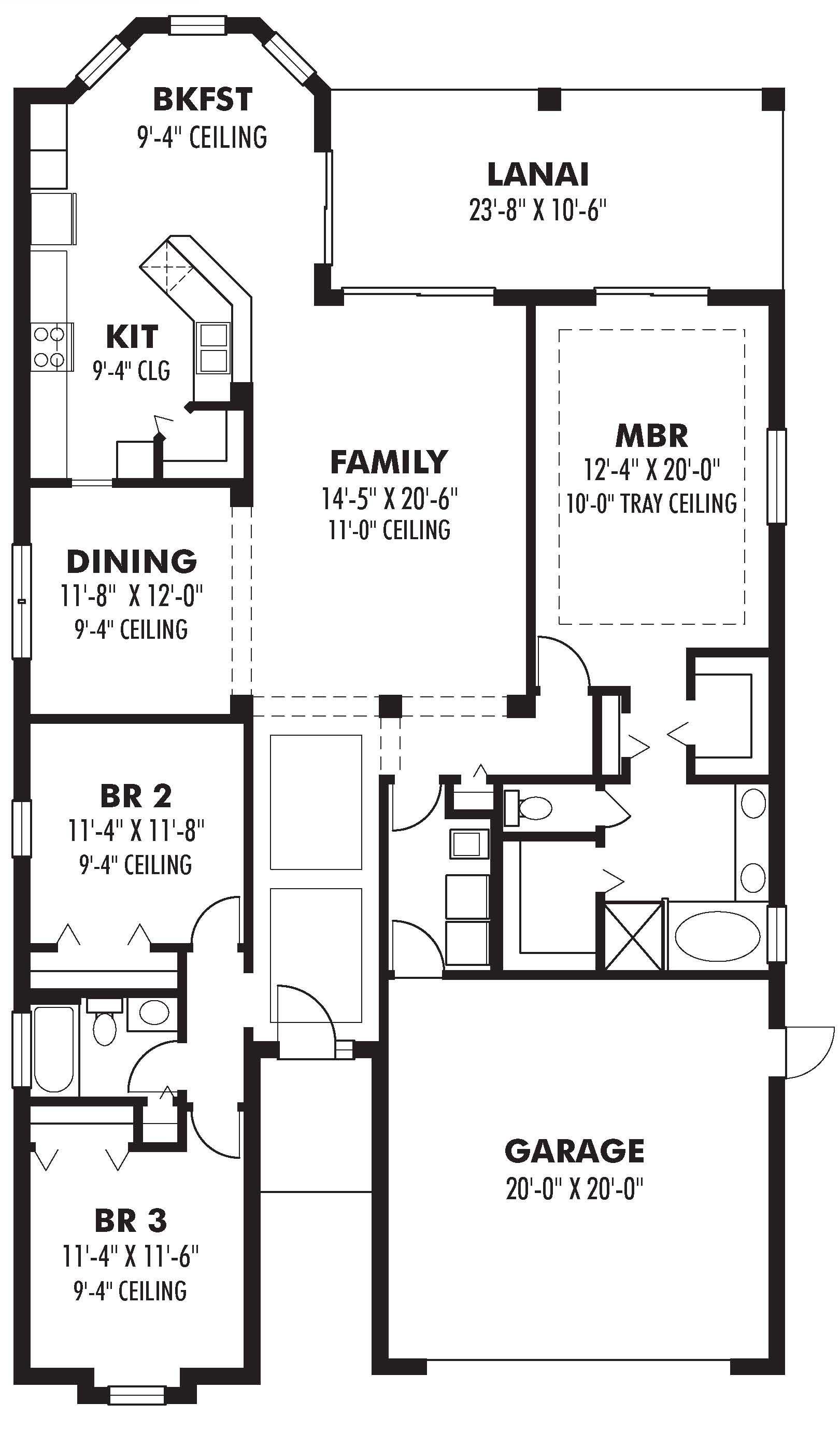 Bungalow House Plans - Home Design 1947