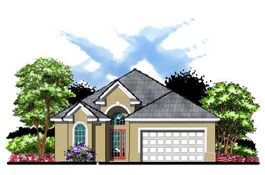 3-Bedroom, 1947 Sq Ft Bungalow Home Plan - 159-1043 - Main Exterior