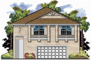 3-Bedroom, 1785 Sq Ft Garage w/Apartments House Plan - 159-1048 - Front Exterior