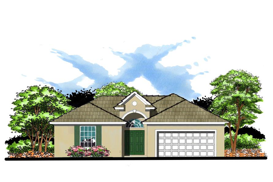 This is an artist's rendering of these Craftsman Home Plans.