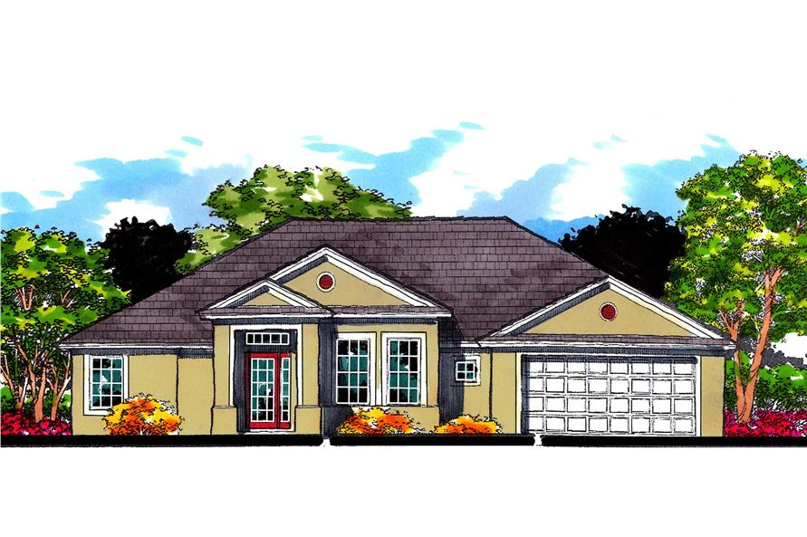 4-Bedroom, 1831 Sq Ft European Home Plan - 159-1052 - Main Exterior