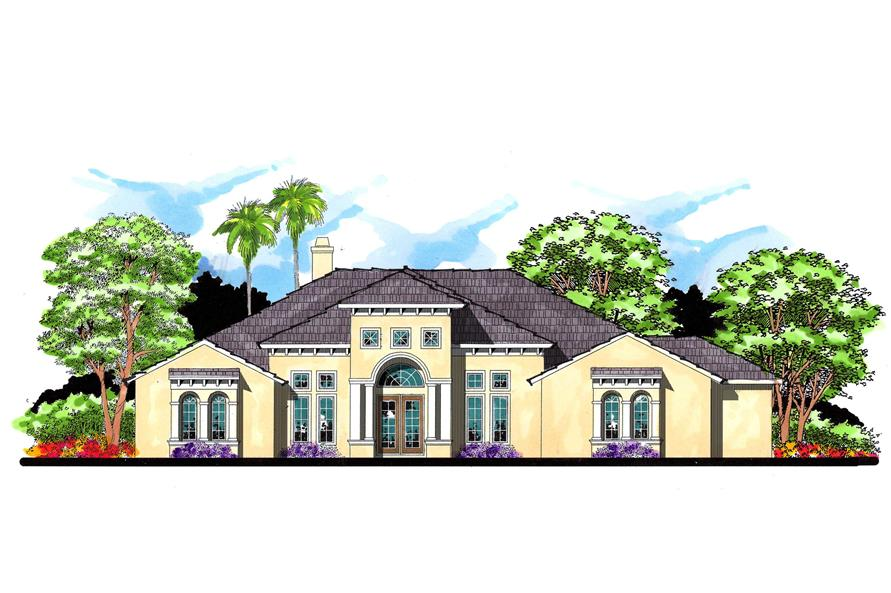 4-Bedroom, 4067 Sq Ft European Home Plan - 159-1058 - Main Exterior