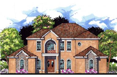 This is an artist's rendering for these Tuscan Home Plans.
