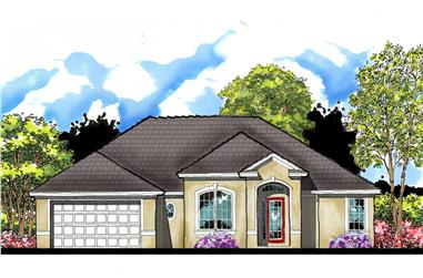 3-Bedroom, 1700 Sq Ft Country House Plan - 159-1063 - Front Exterior