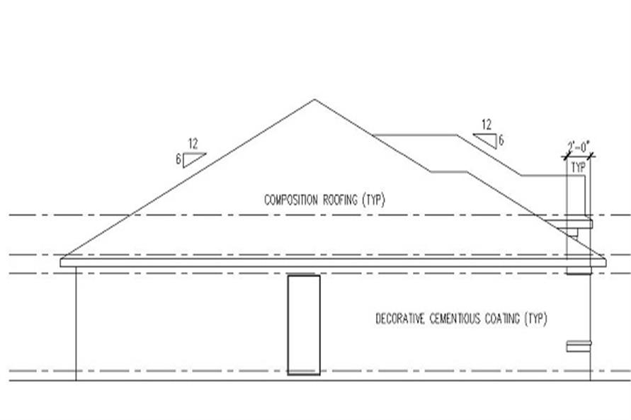 159-1063: Home Plan Left Elevation