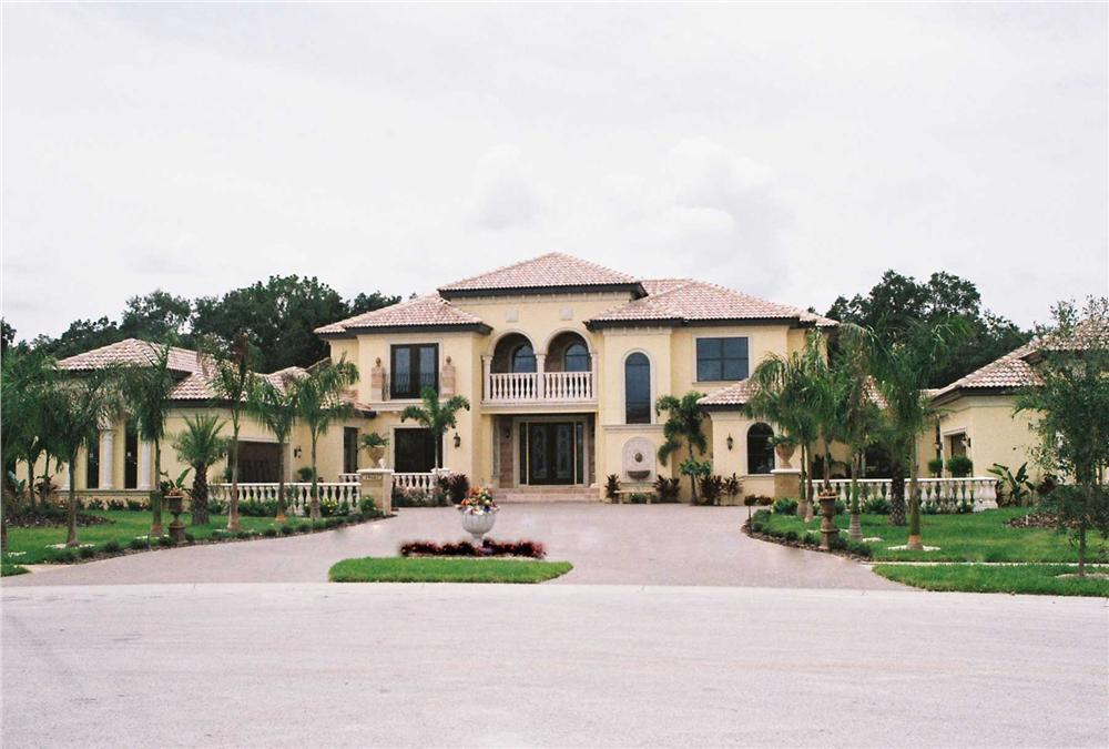 This is a color photo for these Mediterranean House Plans.