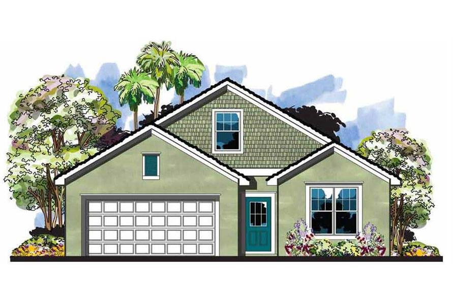 This is an artist's rendering for these Craftsman Home Plans.