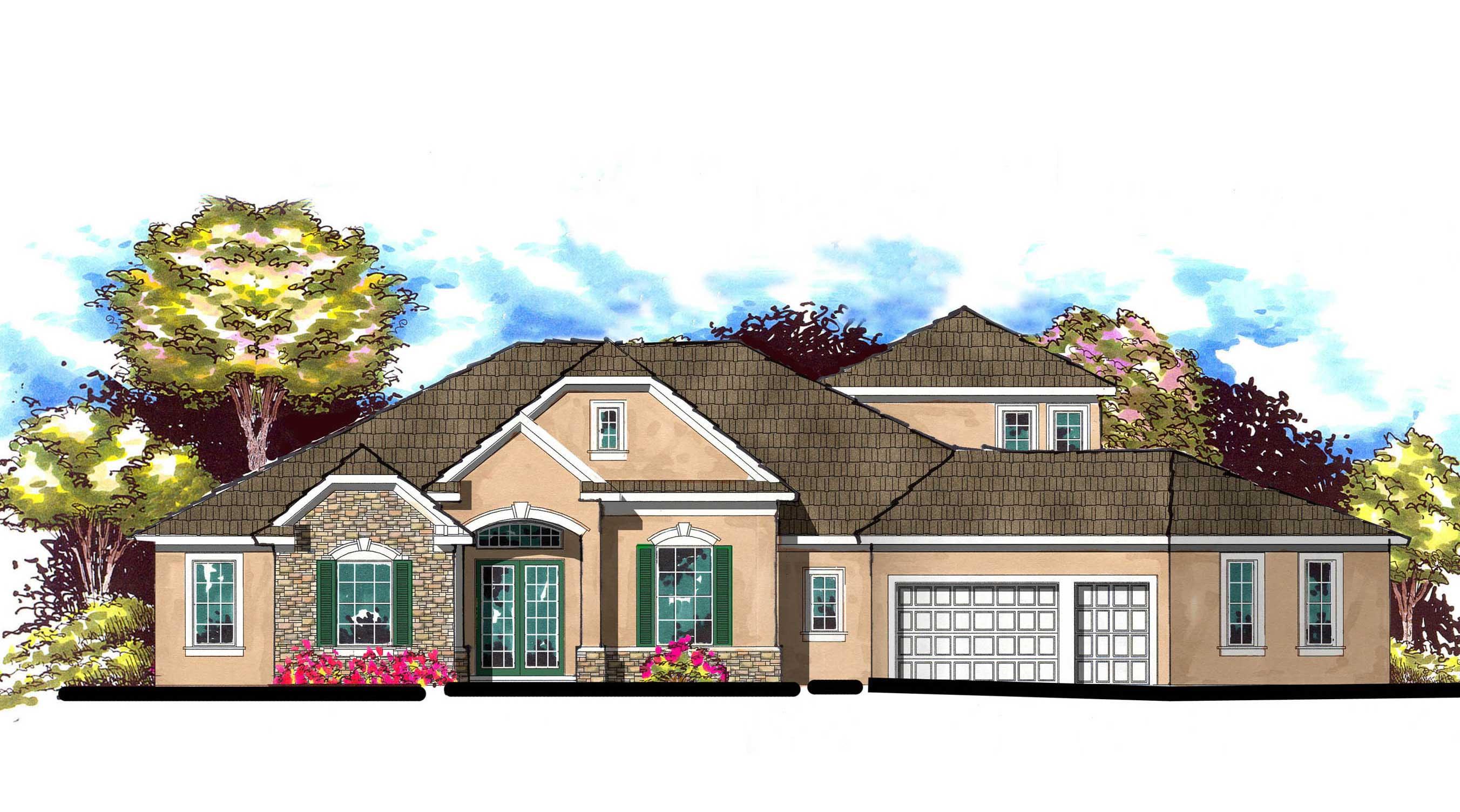 European home plans home design 3687 for European home collection