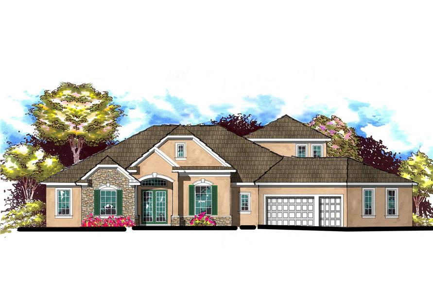 This is an artist's rendering for these European House Plans.