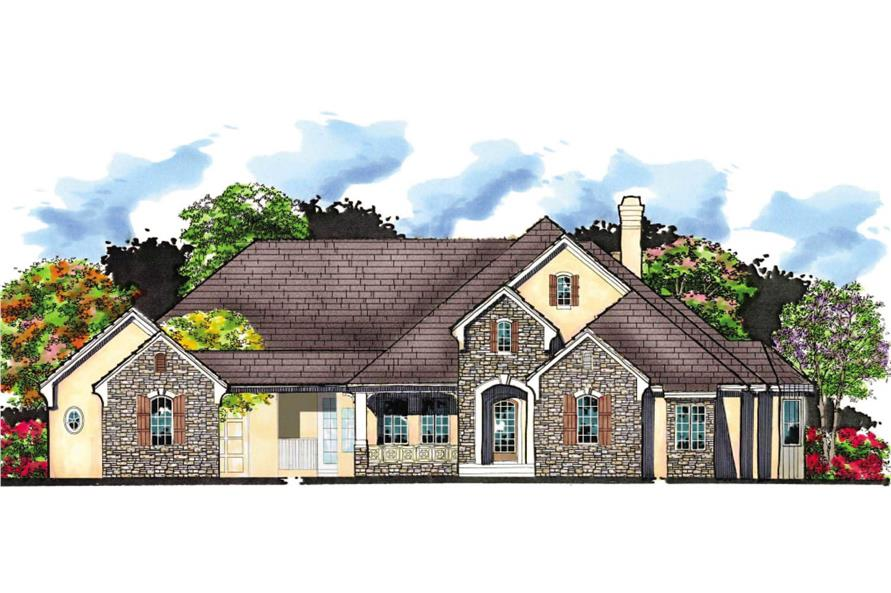 5-Bedroom, 4575 Sq Ft Country House Plan - 159-1077 - Front Exterior
