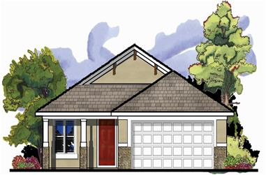 3-Bedroom, 1426 Sq Ft Craftsman Home Plan - 159-1078 - Main Exterior