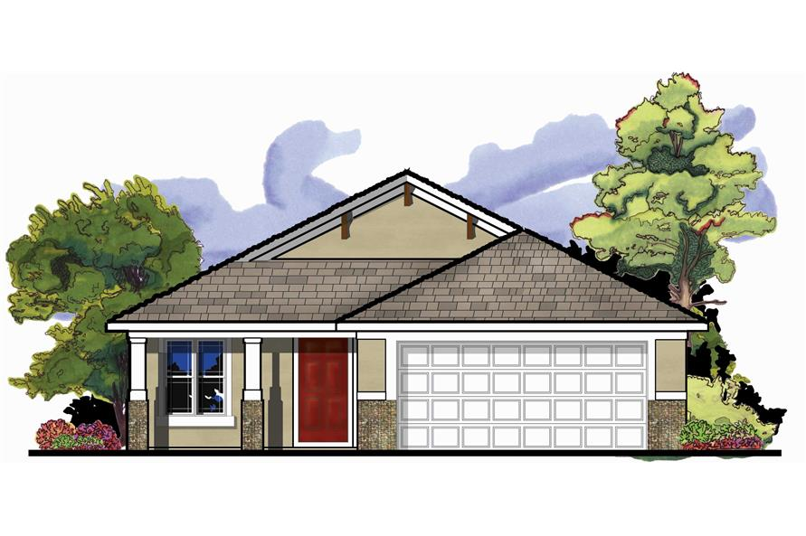 craftsman house plan 3 bedrms 2 baths 1426 sq ft 159 1078 - Elevation Of Bungalow