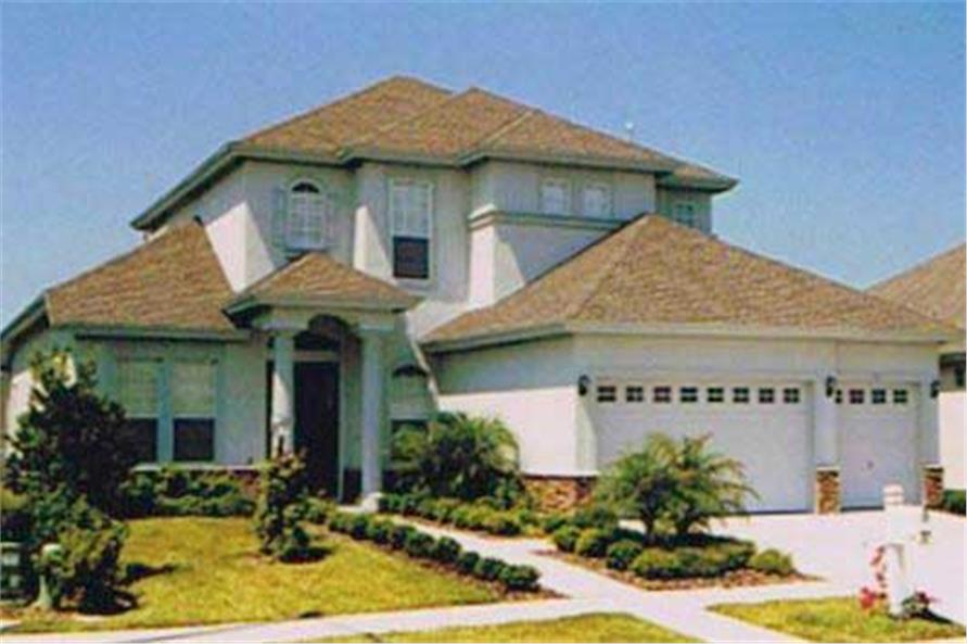 This is a color photo for these Luxury Home Plans.