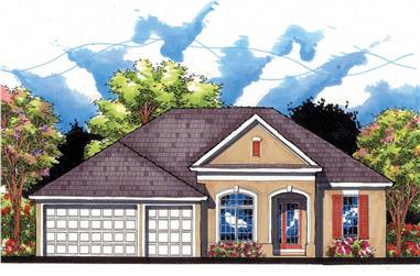 4-Bedroom, 2245 Sq Ft Country Home Plan - 159-1096 - Main Exterior