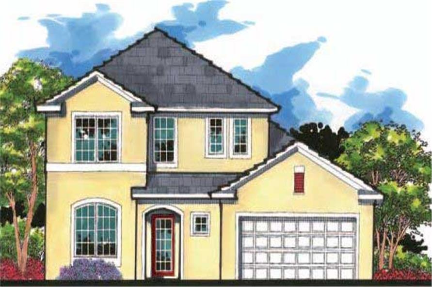 This is an artist's rendering for these Country House Plans.