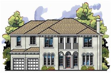 5-Bedroom, 3923 Sq Ft European Home Plan - 159-1108 - Main Exterior