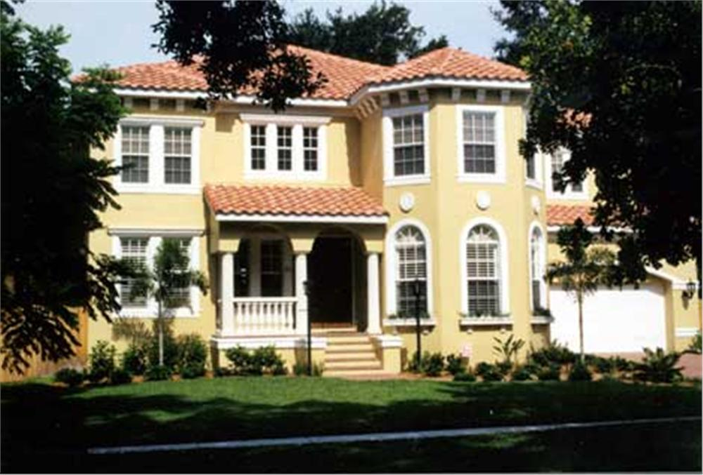 Here's a color photo of these Spanish/Mediterranean Home Plans.