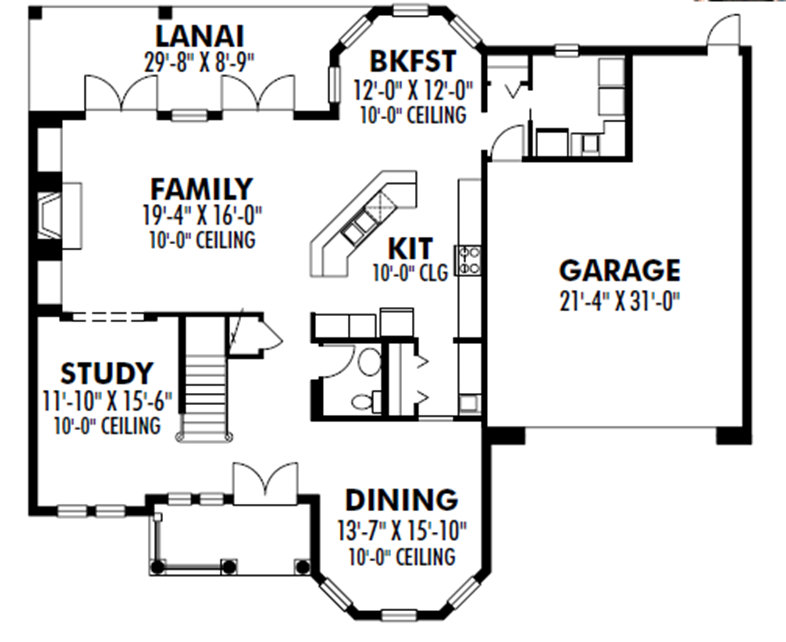 159-1110: Floor Plan Main Level