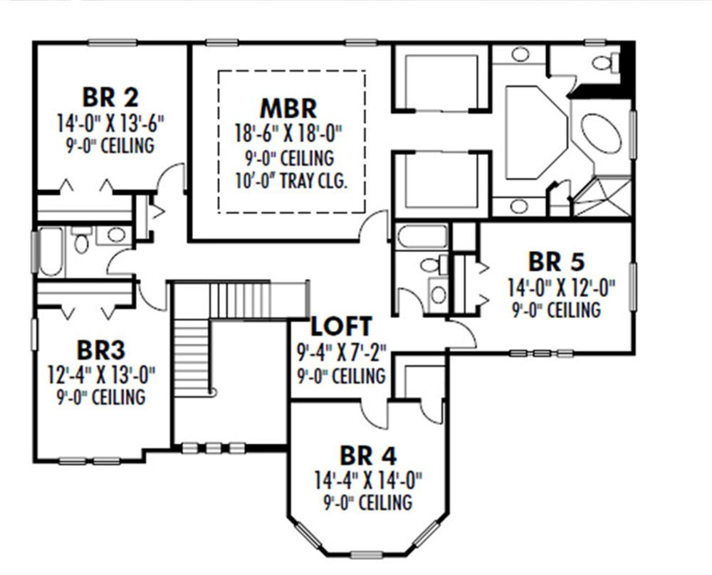 159-1110: Floor Plan Upper Level