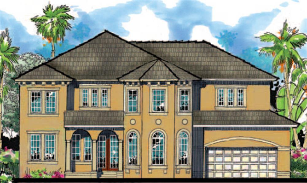 159-1110: Home Plan Front Elevation