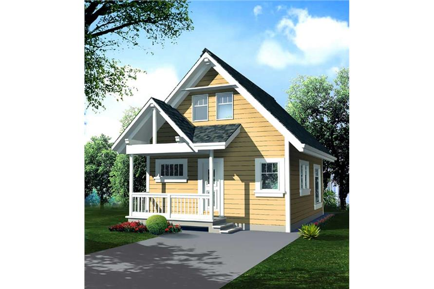 1-Bedroom, 796 Sq Ft Log Cabin Home Plan - 160-1000 - Main Exterior