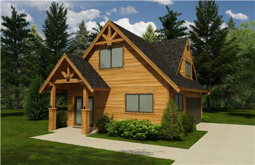 This is a 3D rendering of these garage plans.