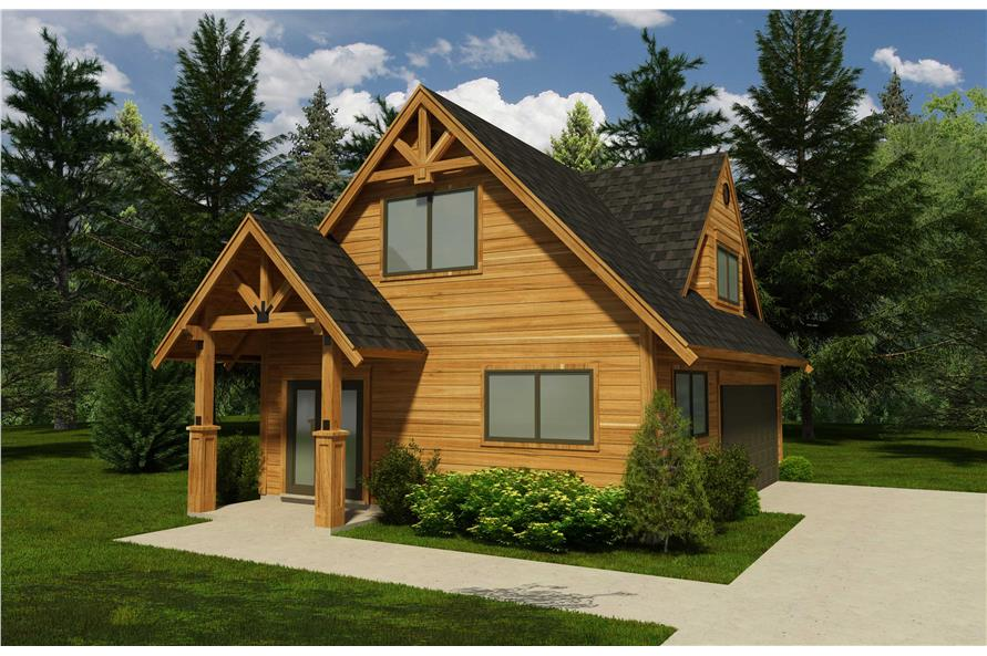 Cabin Garage Plans Part - 23: #160-1001 · This Is A 3D Rendering Of These Garage Plans.