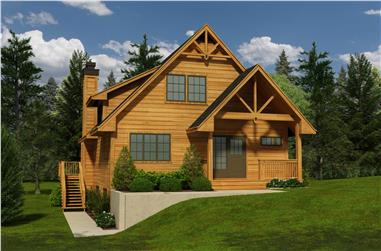 5-Bedroom, 1662 Sq Ft Craftsman House Plan - 160-1002 - Front Exterior