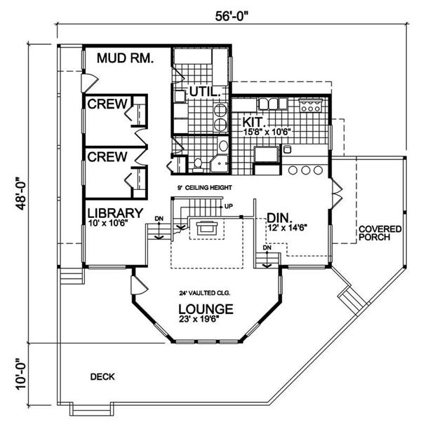 House Plan RS-2682 Main Floor Plan