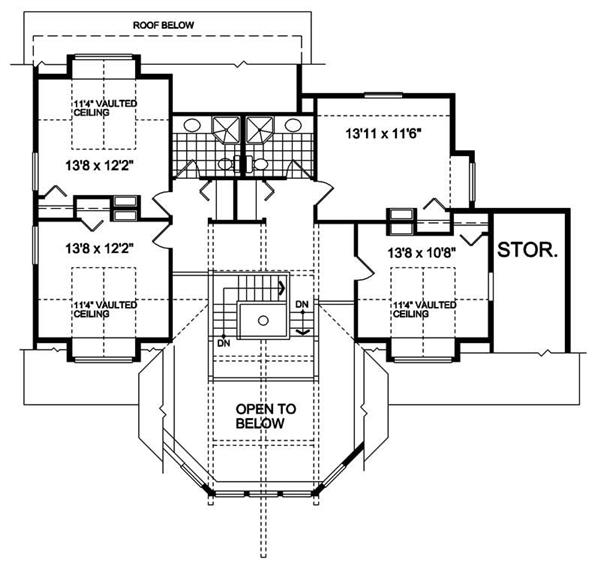 House Plan RS-2682 Second Floor Plan