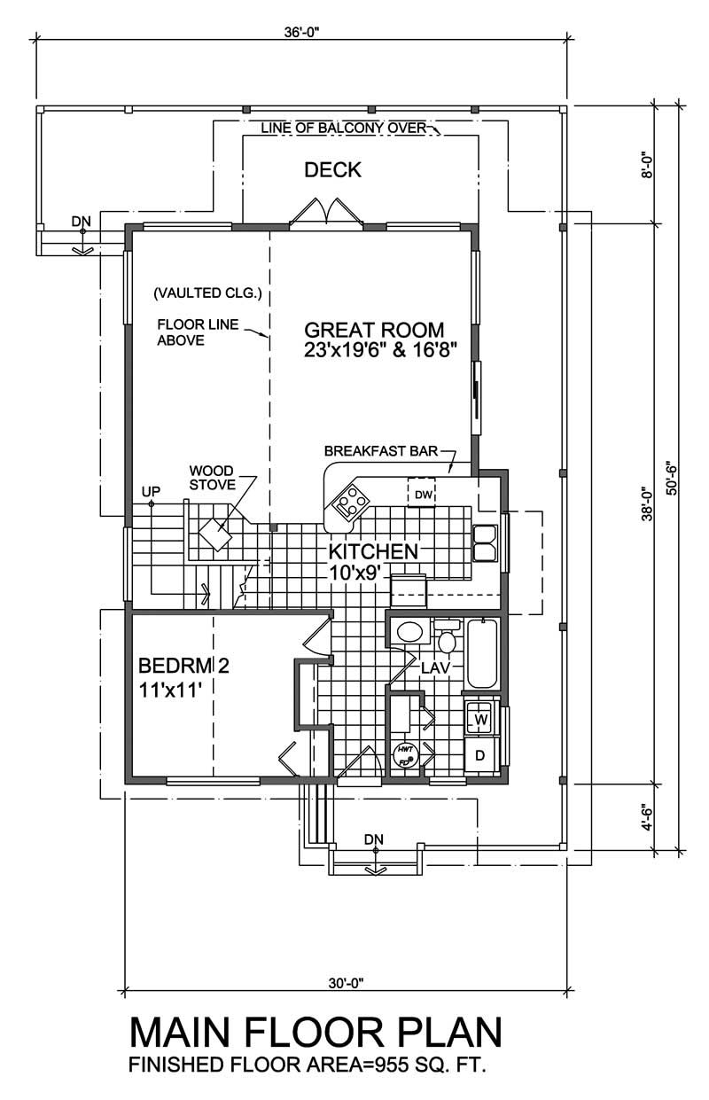 House Plan RS-1644 Main Floor Plan
