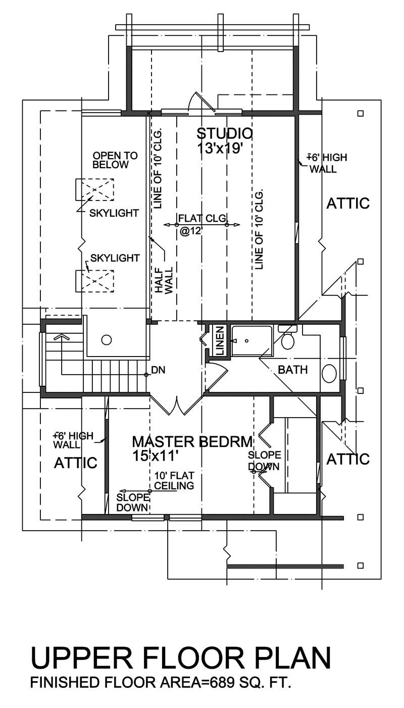 House Plan RS-1644 Second Floor Plan