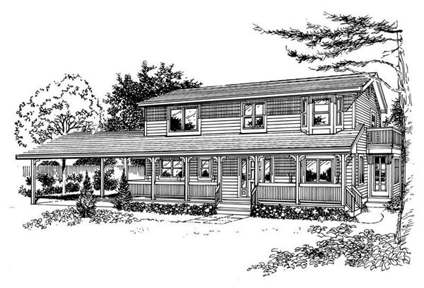 House Plan RS-2215 Line Drawing
