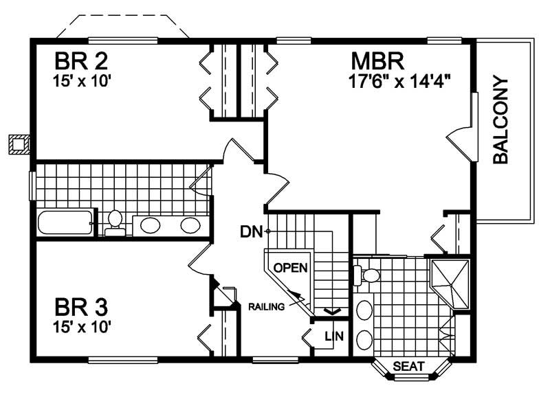 House Plan RS-2215 Second Floor Plan