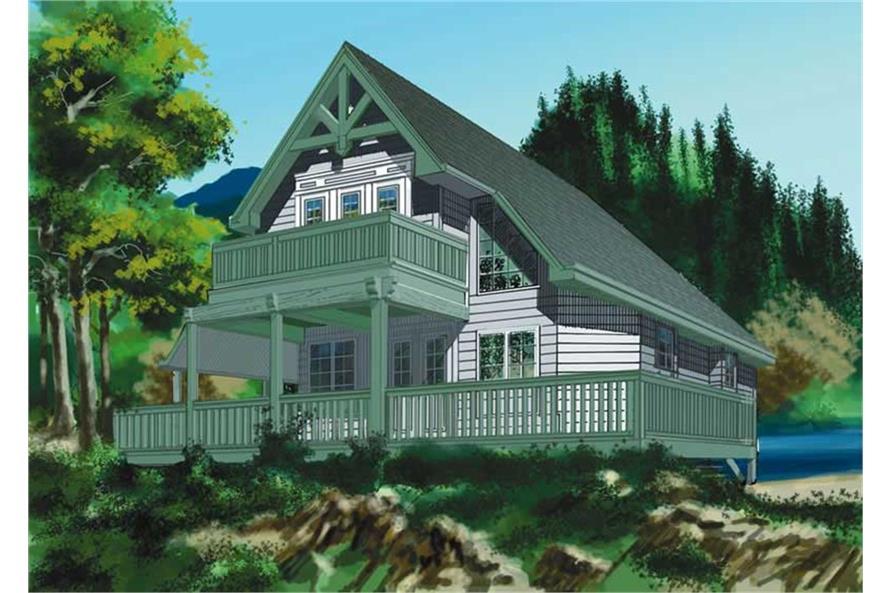 160-1007: Home Plan Rendering