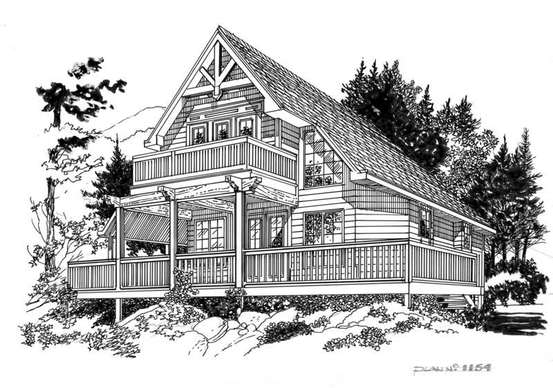 Line Drawing House : Bedrm sq ft country house plan