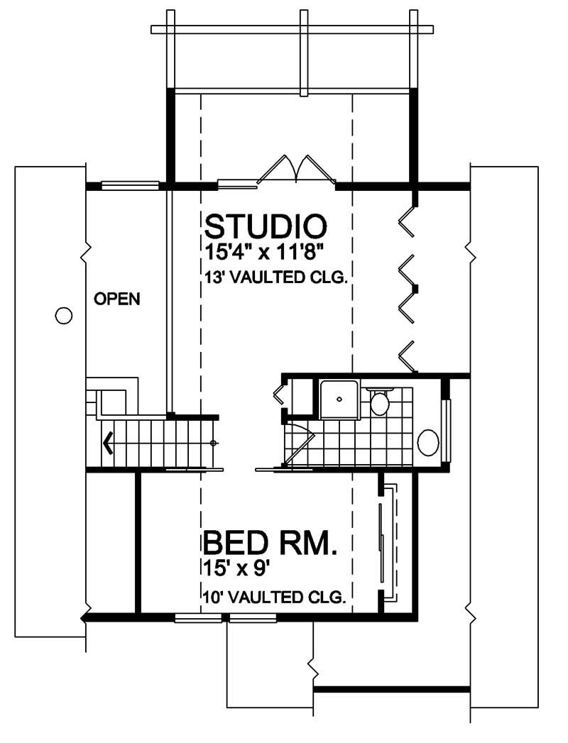 House Plan RS-1154 Second Floor Plan
