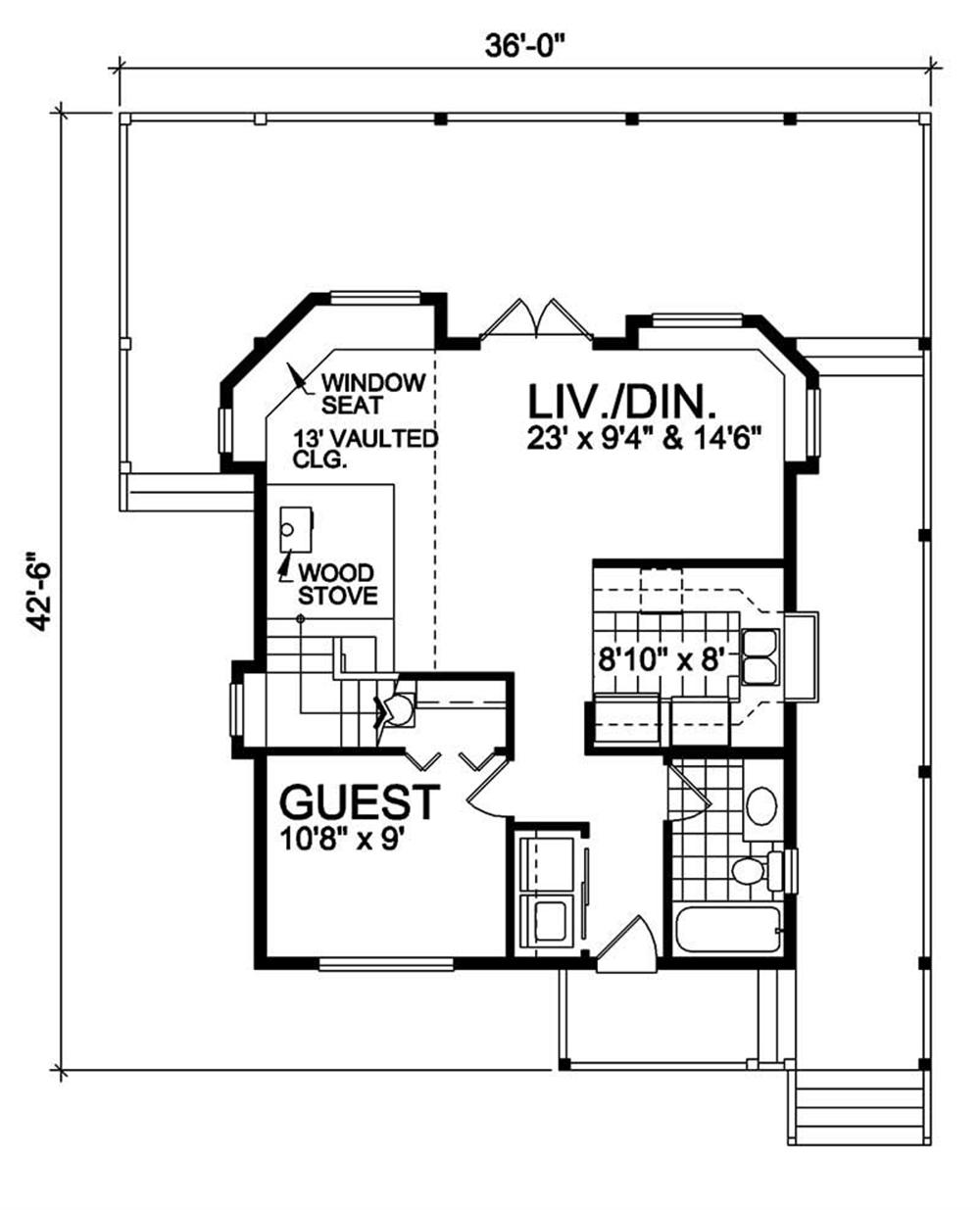 House Plan RS-1154 Main Floor Plan