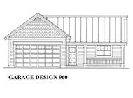 This is the front elevation of these Garage Plans.